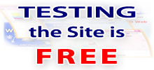 TESTING the Site is FREE - in ABCD Web Design