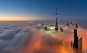 Самый высокий небоскреб в мире, плывущий в облаках - «Бурдж-Халифа»